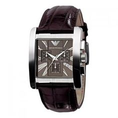 Emporio Armani Quartz, Brown Dial with Brown Embossed Leather Band - Men's Watch Mens Watches Leather, Leather Men, Emporio Armani Mens Watches, Brown Leather Strap Watch, Brand Name Watches, Elegant Watches, Luxury Watches, Men's Watches, Watch Sale