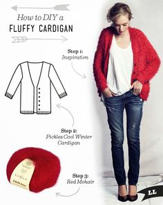 Lula Louise: How to DIY a Fluffy Cardigan