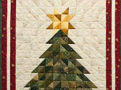 holiday quilts | Christmas Tree Quilt -- outstanding specially made Amish Quilts ...