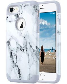 ULAK iPhone Xs Max Case Marble, Slim Fit Hybrid Dual Layer Soft Silicone Hard Back Cover Shockproof Anti Scratch Bumper Protective Case for Apple iPhone Xs Max inch Marble Iphone Phone Cases, Iphone 8 Cases, Valentine Gifts For Girls, Dude Perfect, Iphone Accessories, Apple Products, Slim Fit, Protective Cases, Apple Iphone