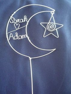 Star and Moon Wedding Cake Topper by heatherboyd on Etsy, $35.00