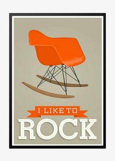 Eames, I like to rock, grey