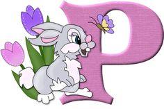 Alfabeto del conejito Tambor  de Disney...P