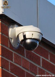 Outdoor dome surveillance security HD camera installation by A.S. SECURITY & SURVEILLANCE INC