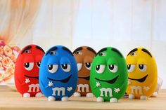 iPhone 6 Plus Cases Cover Cute 3D Cartoon M&M Colorful Chocolate Bean for iPhone 6 for iPhone 6 Plus Soft Silicon Case