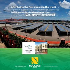 After being the first airport in the world to meet all its power requirements through solar energy , Cochin International #Airport Limited (CIAL) is set to have the World's Largest Solar Carport! #KochiNews #News #Kerala #Kochi #India #Architecture #Home #Construction #City #Environment #Elegant #Building #Beauty #Beautiful #Exquisite #Interior #Design #Comfort #Luxury #Life #Gorgeous #Style #LifeStyle #RealEstate #Solar #View #Atmosphere #Airport