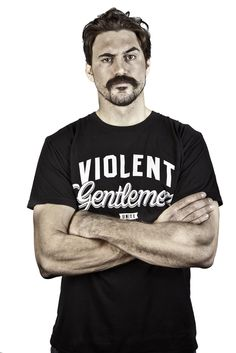 Hockey enforcer George Parros and Violent Gentlemen T-shirt http://www.violentgentlemen.com/
