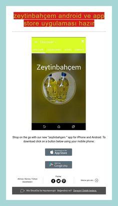 zeytinbahçem android ve app store uygulaması hazır