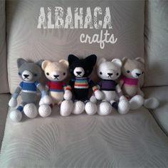 Albahaca Crafts: Familia Patas Grandes (Ositos y Gatitos)