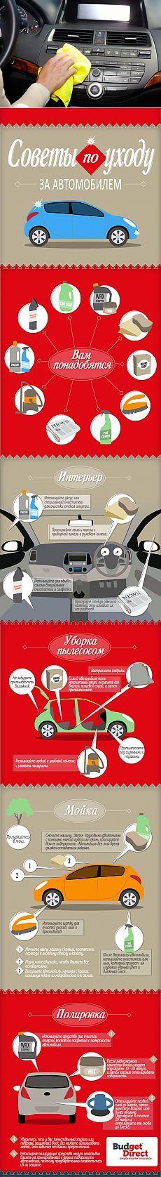 ИНФОГРАФИКА: Как провести генеральную чистку своей машины | Лайфхакер