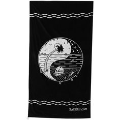 Surfstitch Ying Yang Towel (30 CAD) ❤ liked on Polyvore featuring home, bed & bath, bath, beach towels, black, cotton beach towel, plush beach towels and black beach towel