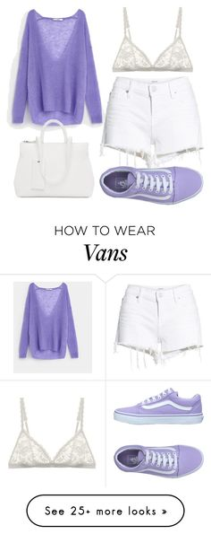 """PURPLE."" by faaliyah49 on Polyvore featuring Hudson Jeans, Uterqüe, Cosabella, Marsèll and Vans"