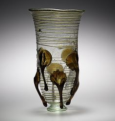 """Frankish glass beaker with protruding """"claw"""" decorations, century, Metropolitan Museum of Art, New York. Medieval Jewelry, Medieval Art, Glass Vessel, Glass Art, Vases, Main Image, Dark Ages, Ancient Artifacts, Museum Collection"""