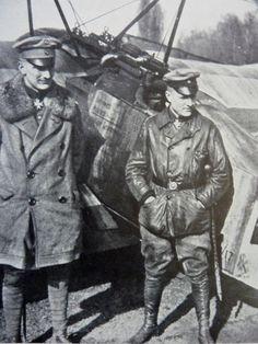 Manfred von Richthofen (right) and his brother Lothar Von Richthofen (left)