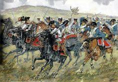 5th November 1757 Dragoon Regiment No 4 attacks Cuirassier Regiment No 29