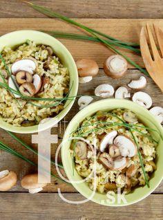 Krémové risotto s gaštanmi, pórom a hríbmi