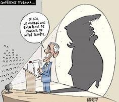 Québec: conference de Barak Obama  - Donald Trump Les caricatures de Garnotte et de Pascal: Le coup de crayon du 7 juin