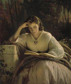 """Reading"", 1863 / Ivan Kramskoy (1837-1887) / The Tretyakov Gallery, Moscow, Russia"