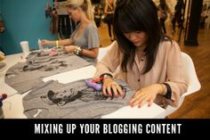 Mixing Up Blogging Content