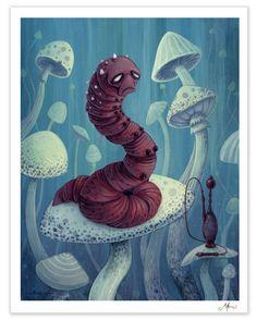 Afterland by Imaginary Games — Kickstarter - Alice & Wonderland -The Hookah Caterpillar