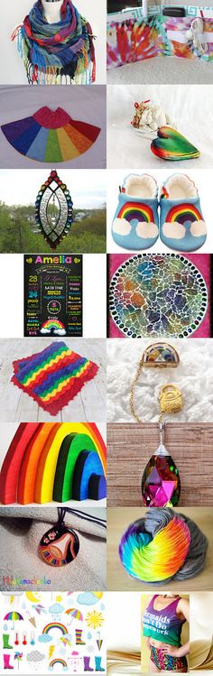 **Hallelujah! It's RAININ RAINBOWS!!!!!!** by Margie on Etsy--Pinned+with+TreasuryPin.com Rainbows, My Love, Etsy, My Boo, Rainbow