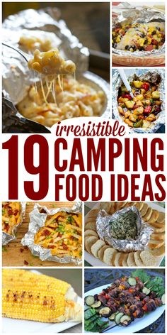 Love these camping food ideas! There's something for everyone! - One Crazy House