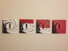 James Bond Painting Set by PokePaints on Etsy, $50.00