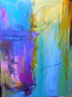 """Emergence"" - Pintura abstracta de Carrie Clayden"