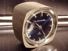 Pendule-reveil-mecanique-8-day-bureau-LANCEL-vintage-1970-70s