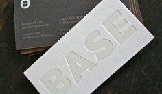 Crane Lettra Flo White 220# cover stock with hit of tonal letterpress varnish.