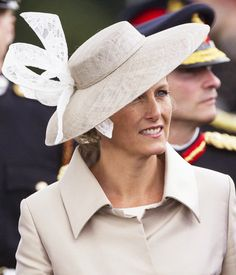 Countess of Wessex, August 9, 2013 | The Royal Hats Blog--Jane Taylor picture hat with lace bow