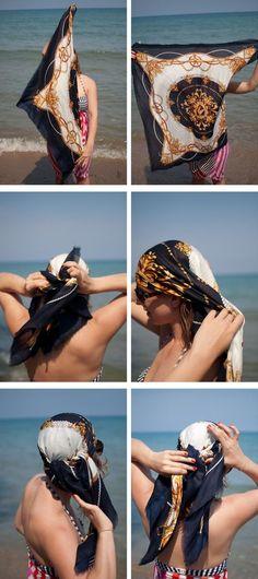 Sommer Outfit Kopftuch binden