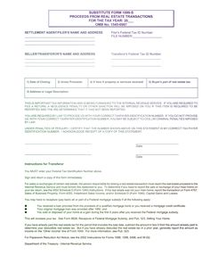 7 Best PDF IRS Form 1099-S Substitute Form 2017-2018 images