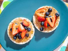 Easy Hacks for Snack Time : Food Network Rice Cake Snacks, Fruit Snacks, Rice Cakes, Sushi Recipes, Snack Recipes, Kid Recipes, Healthy Recipes, The Kitchen Show, Kitchen Tips