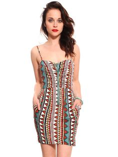 love this Tribal Print Pocket Dress from @gypsywarrior