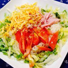 暑かったのでヽ( ´3`)ノツルツルさっぱりな晩ごはん♪ - 17件のもぐもぐ - サラダ素麺☆ by honanan