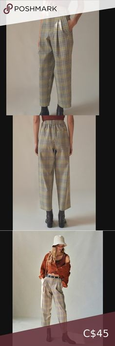 Urban Outfitters Arlo Pleated Pant High rise with elastic backing Could probably fit a size M quite well Never worn Urban Outfitters Pants & Jumpsuits Trousers