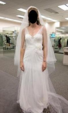 Vera Wang White VW351039, find it on PreOwnedWeddingDresses.com $200 new with tags/unaltered Ivory size 14