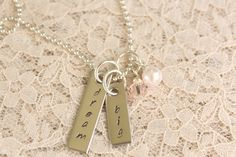 Dream Big Hand stamped necklace by ThePoshDaisy11 on Etsy, $20.00
