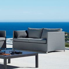 Diamond 2 Seater Sofa by Cane-Line The Diamond 2 Seater Sofa encapsulates comfort, convenience, and subtle modern design all within one sofa.