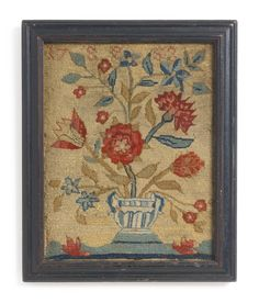 A RARE CANVASWORK SAMPLER, ANONYMOUS, PROBABLY BOSTON, DATED 1753 | Lot | Sotheby's