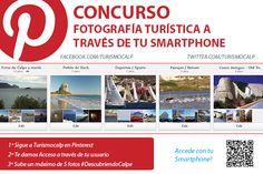 """Consurso Fotográfia Turística #Calpe """"Fotos a Través de tu Smartphone"""" PINTEREST"""