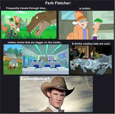 """And Ferb's voice actor-Thomas Sangster-was also on Doctor Who as well.  I believe he was in the 10th Doctor episodes """"Human Nature"""" and """"The Family of Blood"""".  He was the boy at the school where The """"human"""" Doctor was teaching who stole The Doctor's fob watch."""