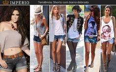 Shorts com a barra dobradinha é tendência, inspire-se!