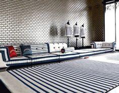 Jean-Paul Gaultier store. sailor stripes.