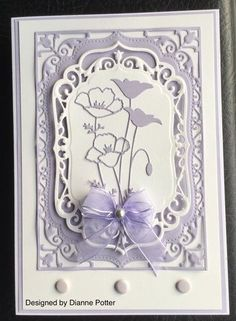By Dianne Potter,Spellbinders Elegant Labels Four,Memory Box Prim and Darling Poppy dies,Craftwork Cards Card Candy