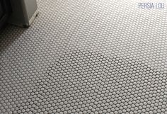 Persia Lou: Installing Penny Tile Floors Part Two and Bathroom Progress Beach Bathrooms, Upstairs Bathrooms, Boho Bathroom, Classic Bathroom Inspiration, Penny Tile Floors, Black Grout, Small Bathroom Renovations, Bathroom Flooring, Diy Party