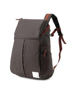Trapezium Cotton Backpack (Charcoal grey) - diaper bag