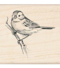 Inkadinkado Rubber Stamp - Sparrow