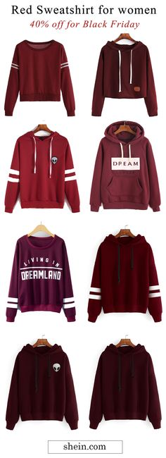 Red sweatshirt collect. Free shipping & 40% off for Black Friday!